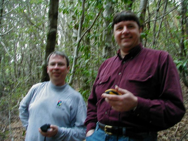 Jeff and Jim compare GPS coordinates