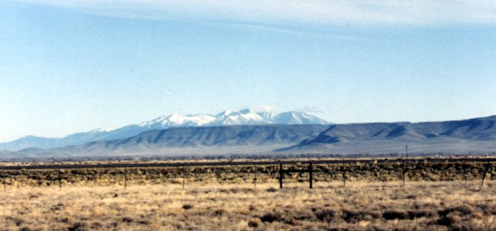 North - toward Sierra Blanca Peak and town of Antonito