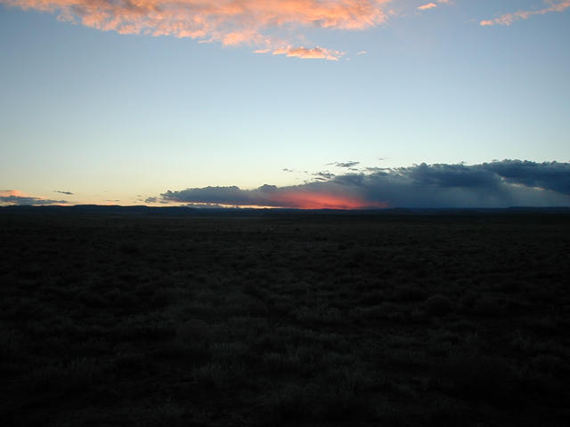 View West at Sunset
