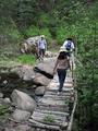 #7: Crossing the bridge at the bottom of the ravine.