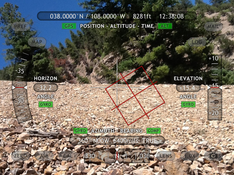 Theodolite data of scree slope.