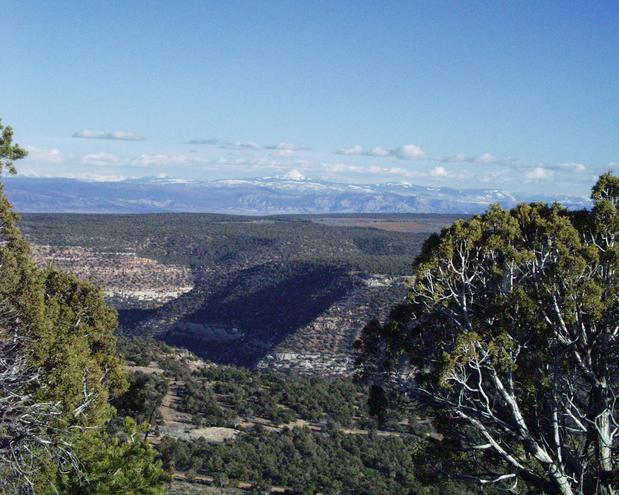 looking east towards Durango, Colorado