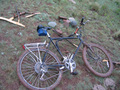 #6: Muddy Bike and geocache at confluence