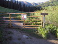 #7: Gate at the wilderness boundary.