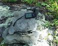 #2: GPS on the rock cairn we found