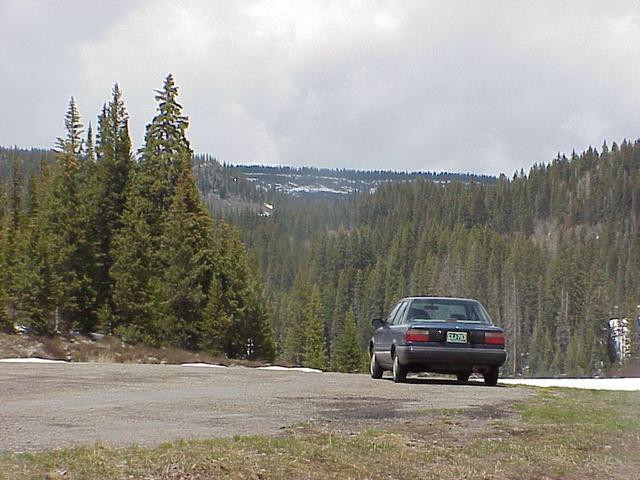 Starting point for confluence trek on Colorado Highway 65 atop the Grand Mesa.