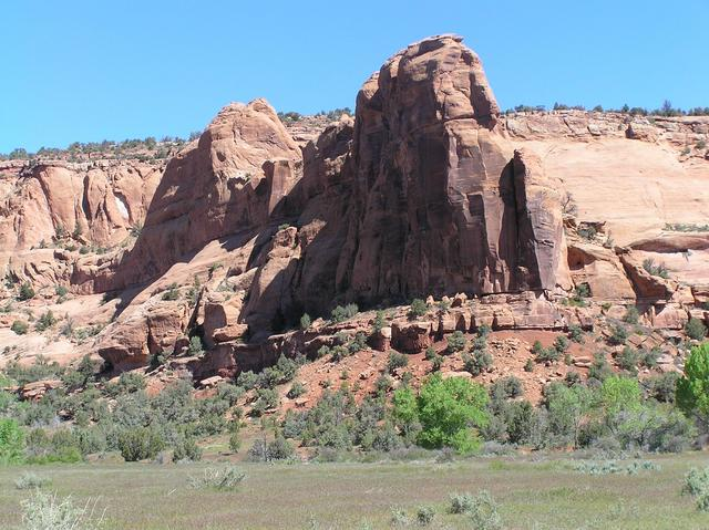North wall of the Little Dolores River Canyon.