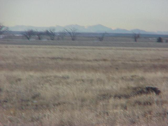 View to the west from the confluence toward the Rocky Mountain Front Range.