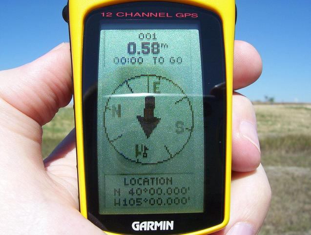 View of GPS screen