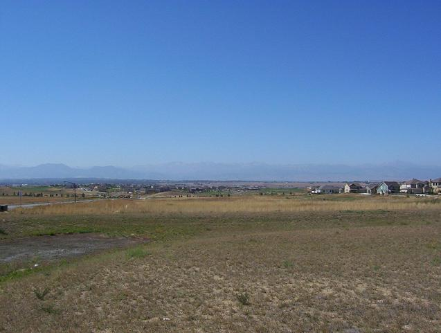The Colorado Front Range, looking west from a hilltop, 1.1 km west of the confluence