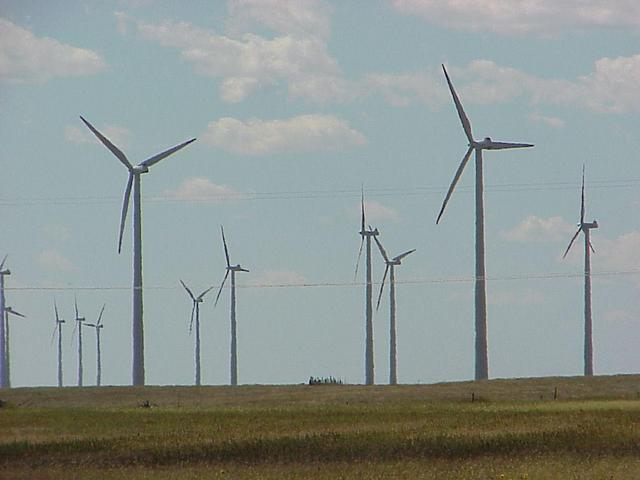 Windfarm at Peetz, Colorado, closest town to the confluence.