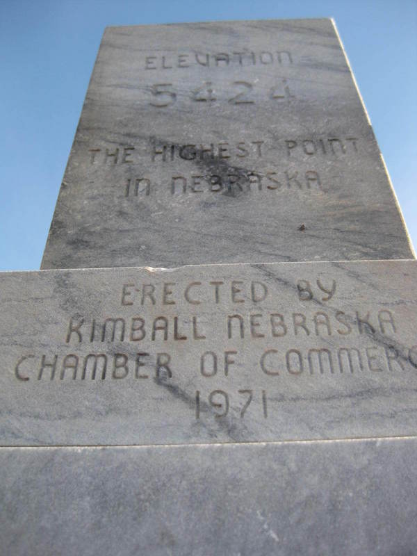 "Marker at the ""top"" of Panorama Point"