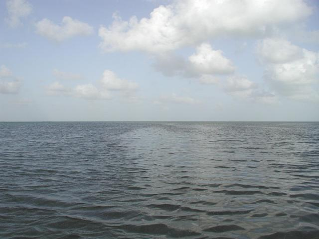 East from the confluence, over the Florida Bay