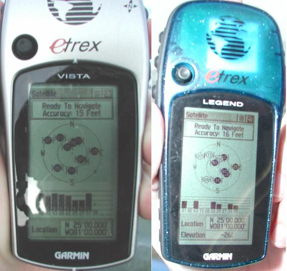 All zeros: Joe's GPS (left), My GPS (right)