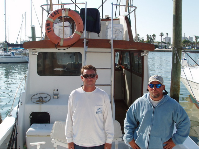 Captain Ronald and 1st mate Dave. The boat can also be seen in Lethal Weapon II, we were told.