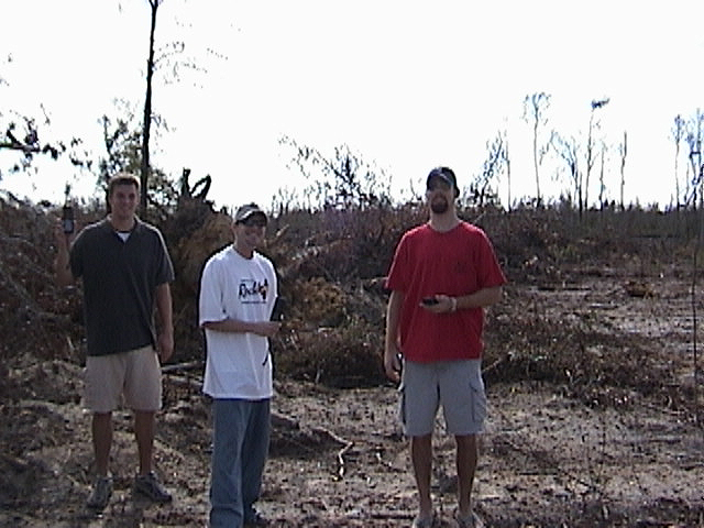 Jason Davenport, Erich Hense, and Scott Prince at the confluence site