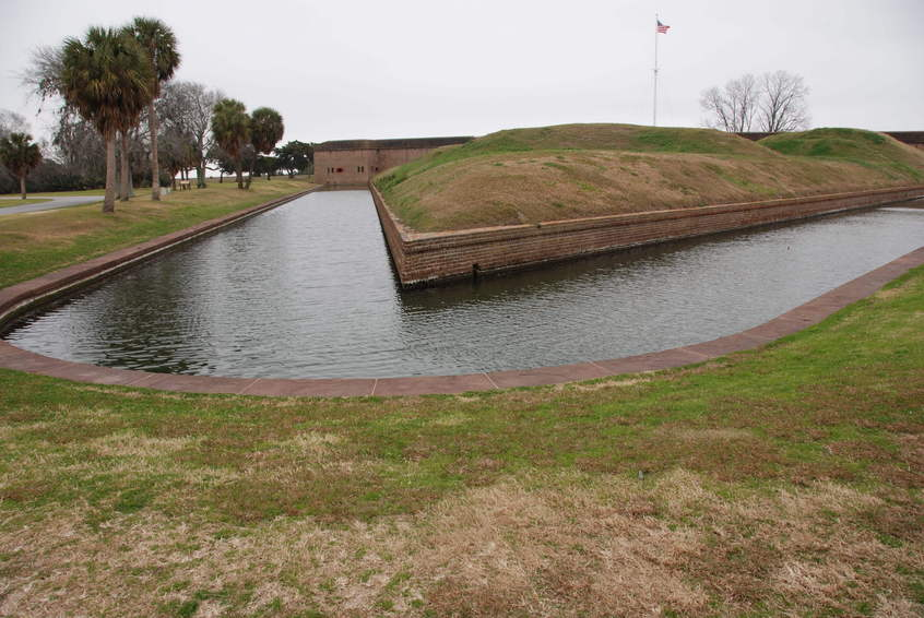 Fort Pulaski on Tybee Island nearby