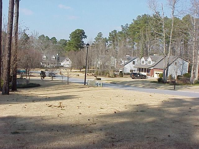View of the confluence site in suburban Atlanta, looking north.