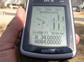 #3: GPS reading at the confluence point.