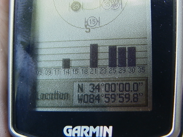 GPS - at 37 mts (could not get all zeroes)