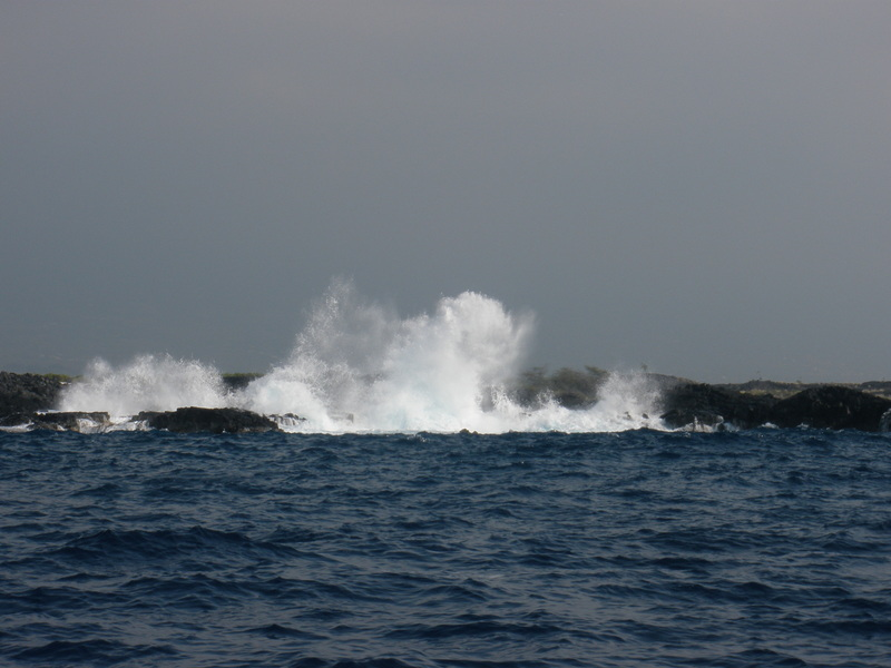 Crashing waves along the Kona Coast