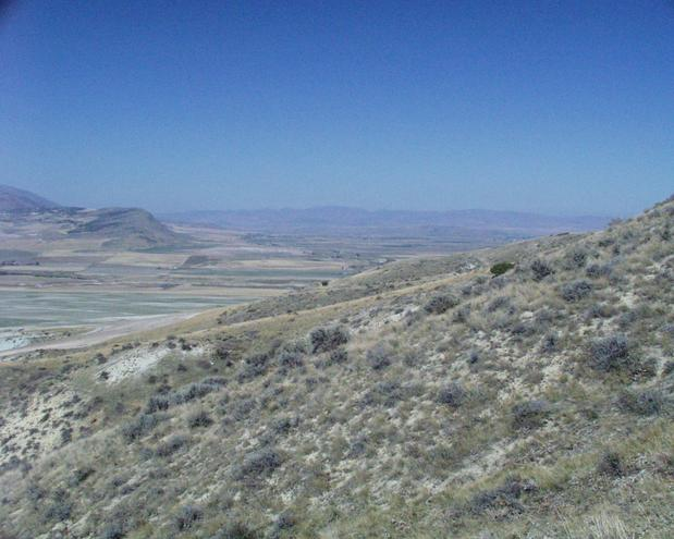 looking north into southern Idaho