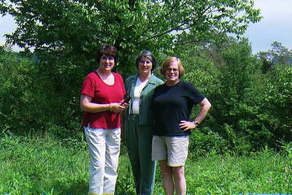 My sisters Molly, Pam, and Judi at the Confluence