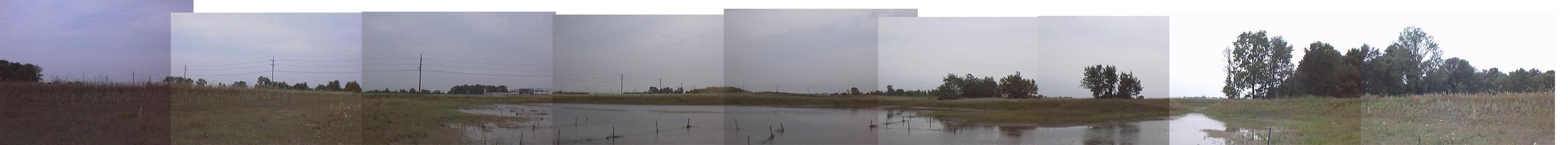 panoramic collage from the eastern bank