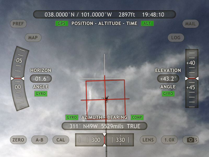 Top of tower as recorded by Theodolite.