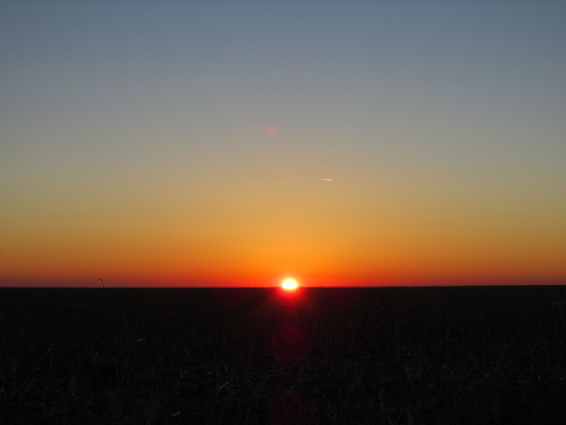 Kansas sunset, just a few miles northwest of the confluence point.