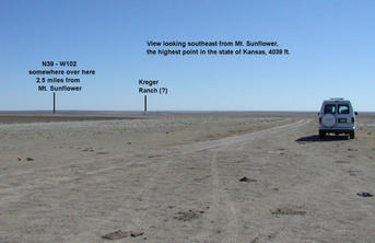 #1: View to the southeast showing the approximate location of the confluence.