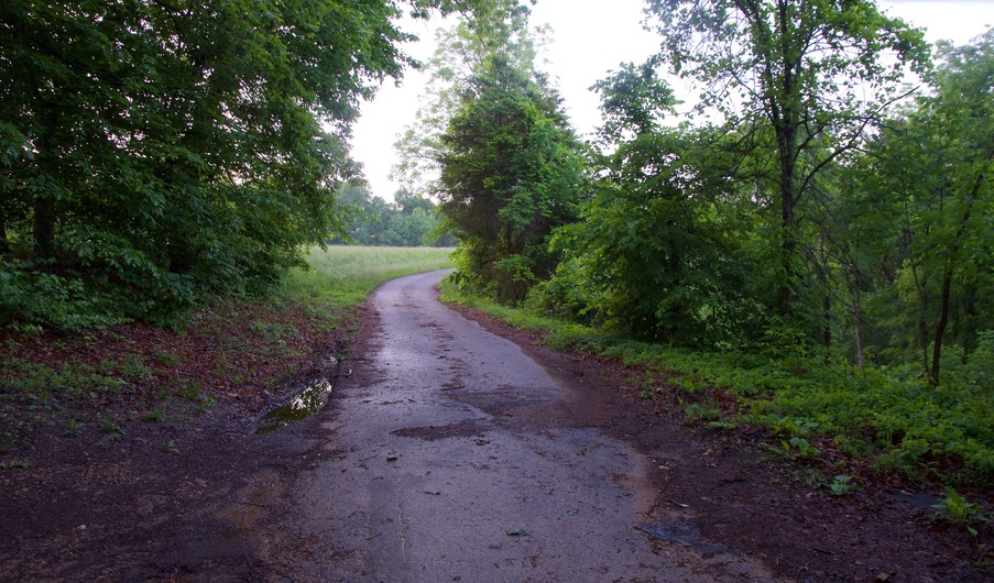 The end of Parks Ridge Road, just 450 feet from the point