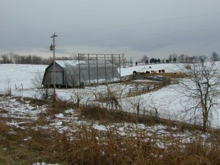 #1: Barn in field east of target