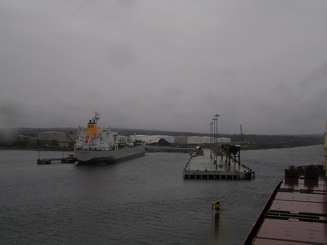 Arriving at Searsport in rainy weather