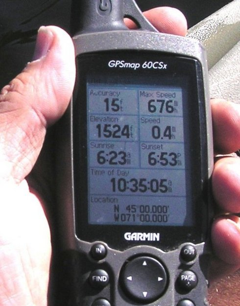 GPS zeroes finally from an aquatic platform