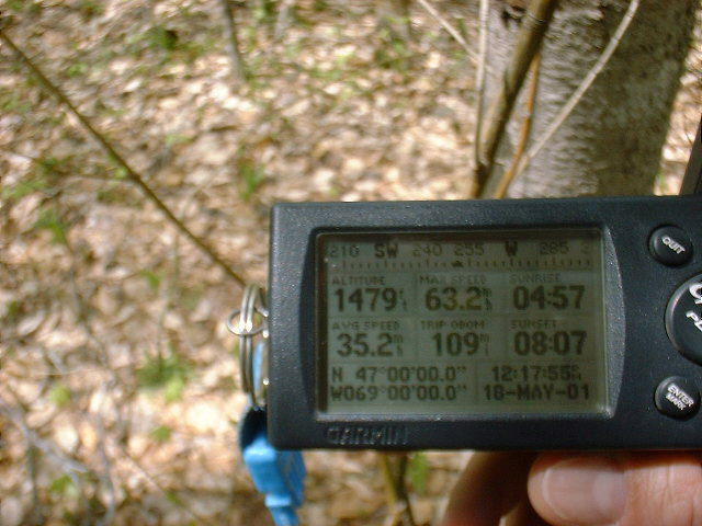 GPS coordinates at the confluence.