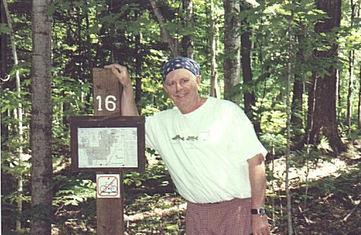 "Steve at trail head Mile marker 16 of ""Deadman Hill Trail"""