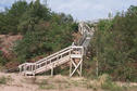 #6: The stairway leading from the scenic overlook to the beach.