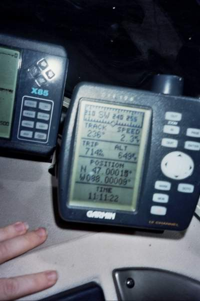 GPS reading.  The proof!