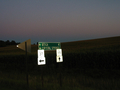 #5: Sign post towns and roads we were on