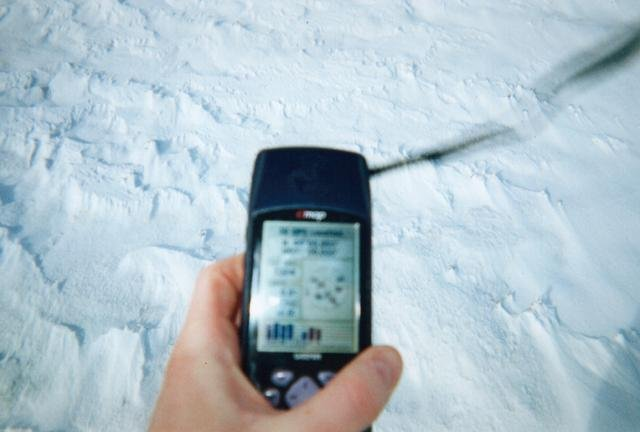 Out of focus picture of GPS