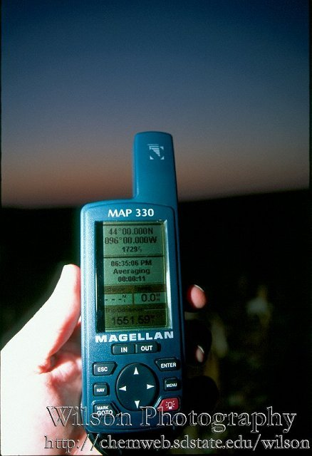 The GPS at the confluence.