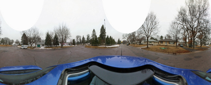 #1: Kaidan 360 OneVR Panoramic shot from road intersection