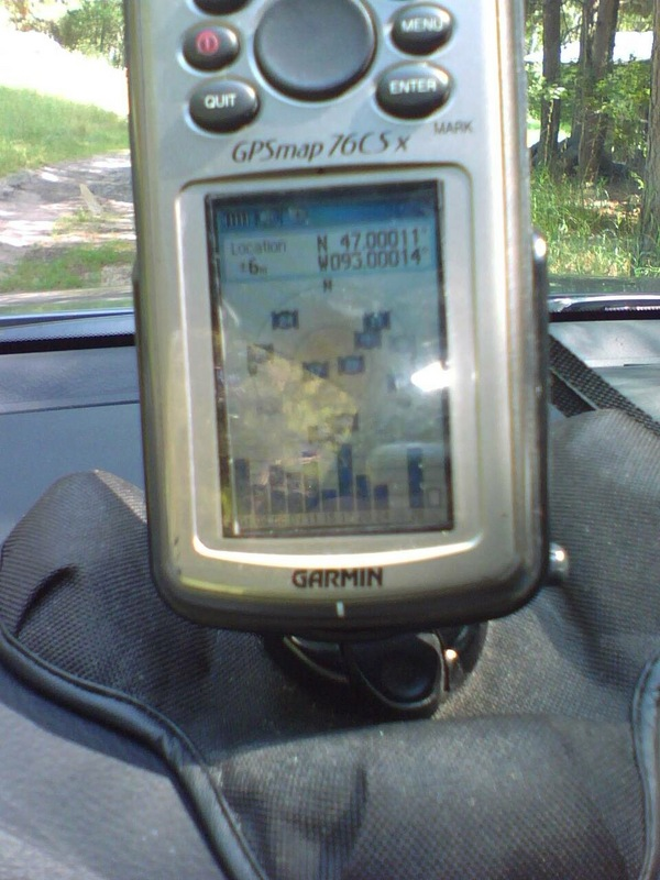 GPS screen where I parked