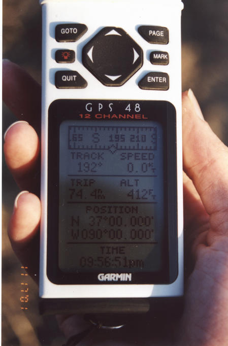 Shot of the GPS