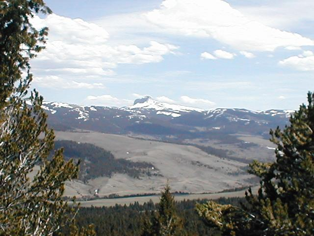 View from the ridge just above confluence