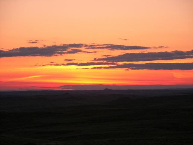 Sunset near confluence