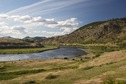 #8: A view of the Missouri River from Beartooth Road - 460 feet from the confluence point, which is in the lower left of this photo