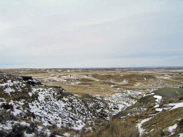 View northwest from confluence