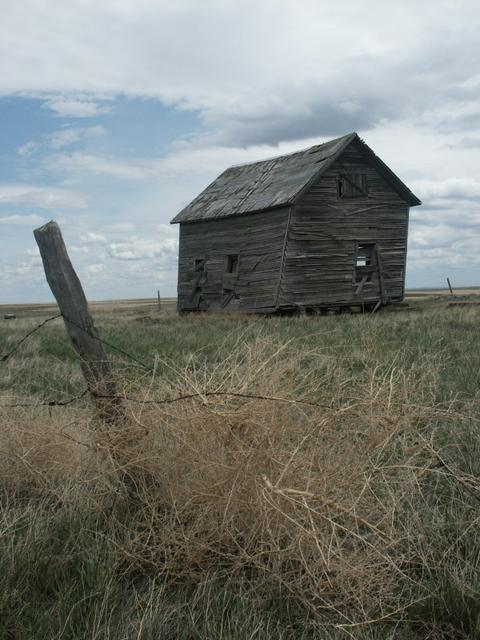 Old abandoned homesteader barn near the confluence